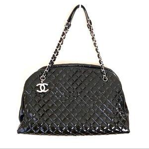 Chanel Quilted CC Logo Charm Maxi/XL Tote Handbag